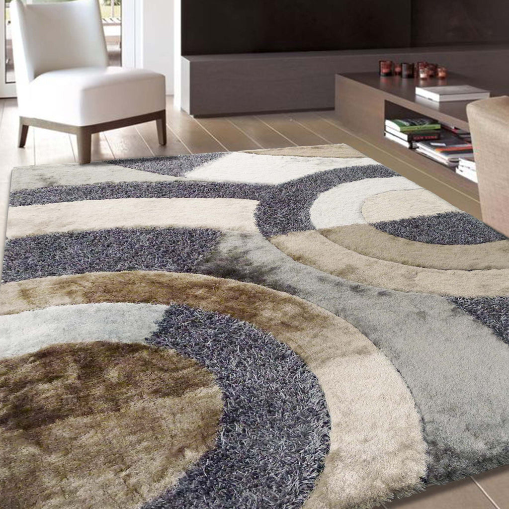 Hand Tufted Multi-textural Designer Shag S.V.D. 27 Area Rug by Rug Factory Plus