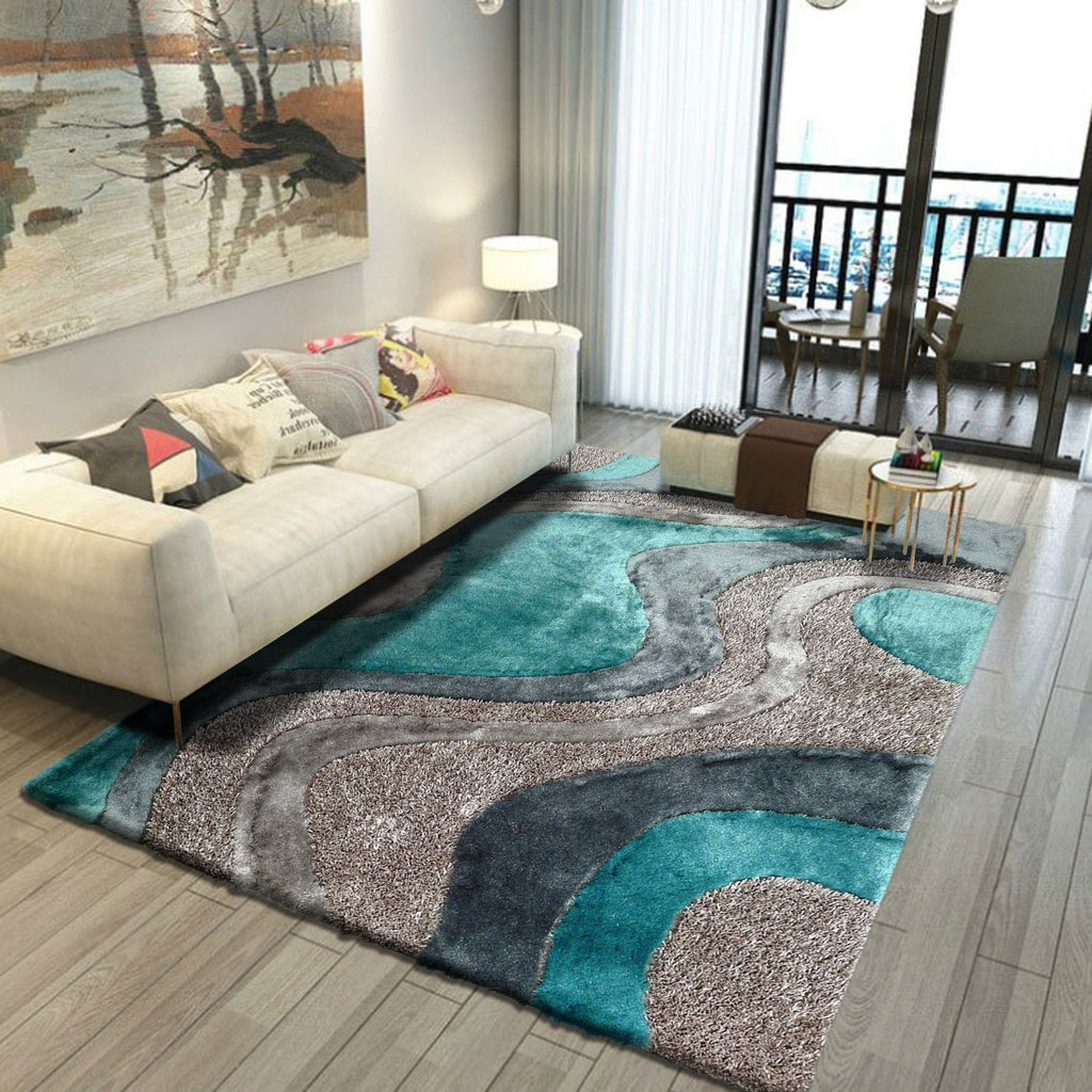 Hand Tufted Multi-textural Designer Shag S.V.D. 29 Area Rug by Rug Factory Plus
