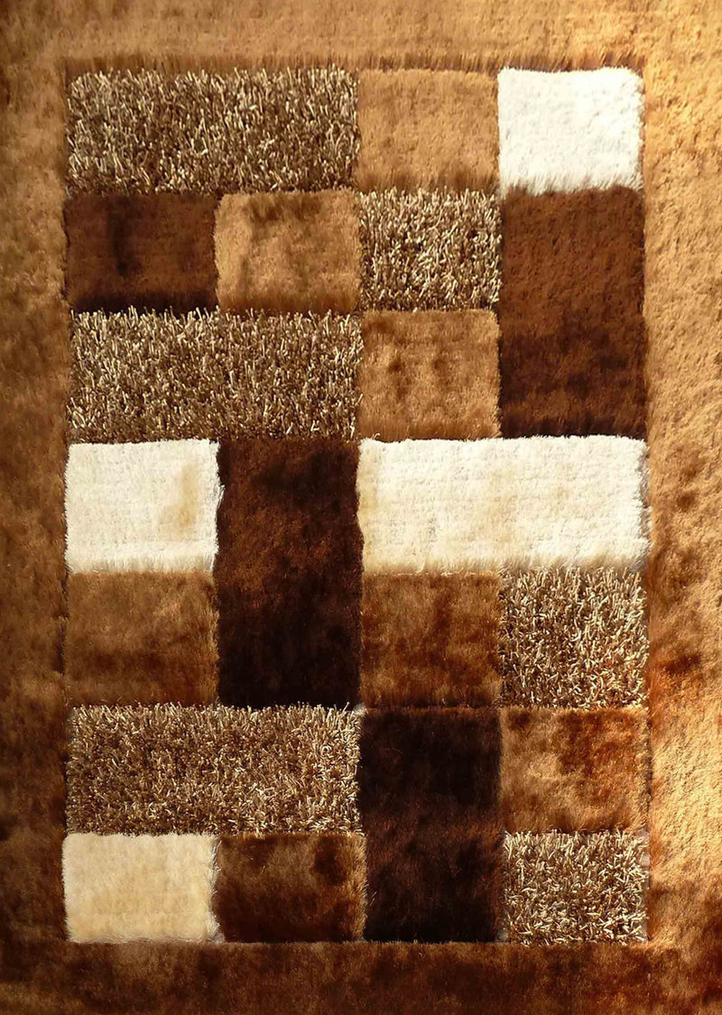 Hand Tufted Multi-textural Designer Shag S.V.D. 30 Area Rug by Rug Factory Plus