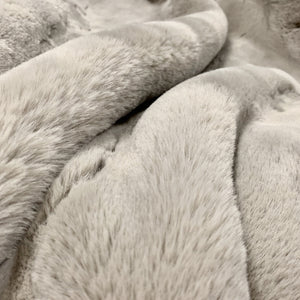 Modern Soft Luxury Chinchilla Feel Faux Fur Mocha Blanket/Quilt Animal Cruelty Free