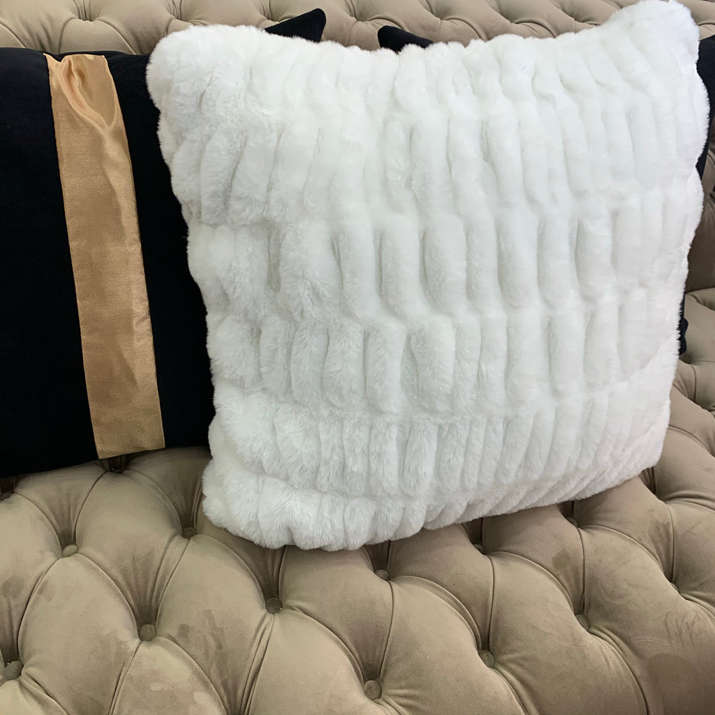 Luxurious Hand Crafted Faux Fur Decorative Furry Pillow
