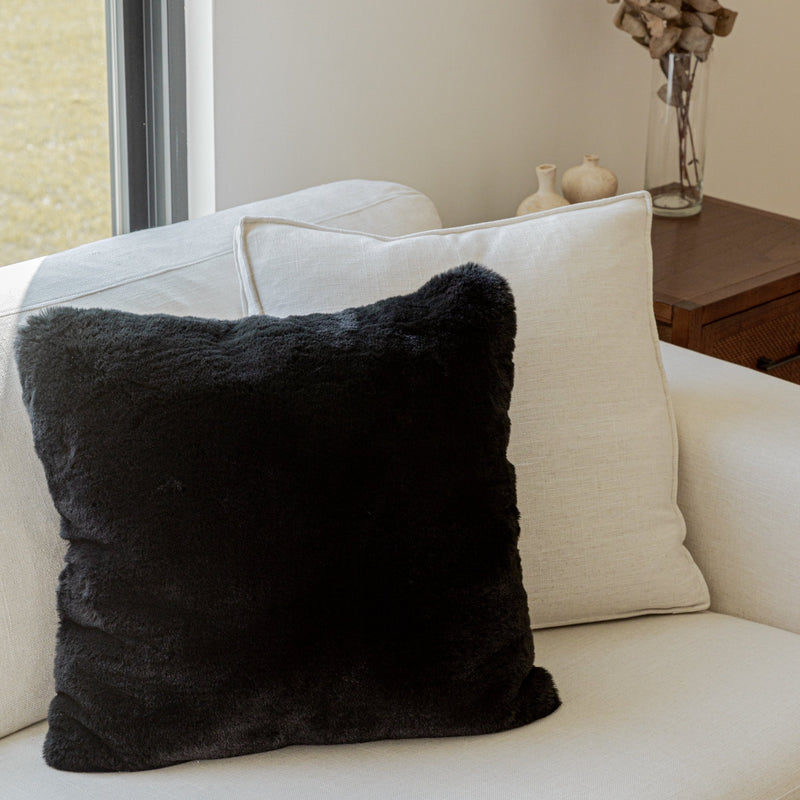 Modern Soft Luxury Chinchilla Feel Faux Fur Pillow