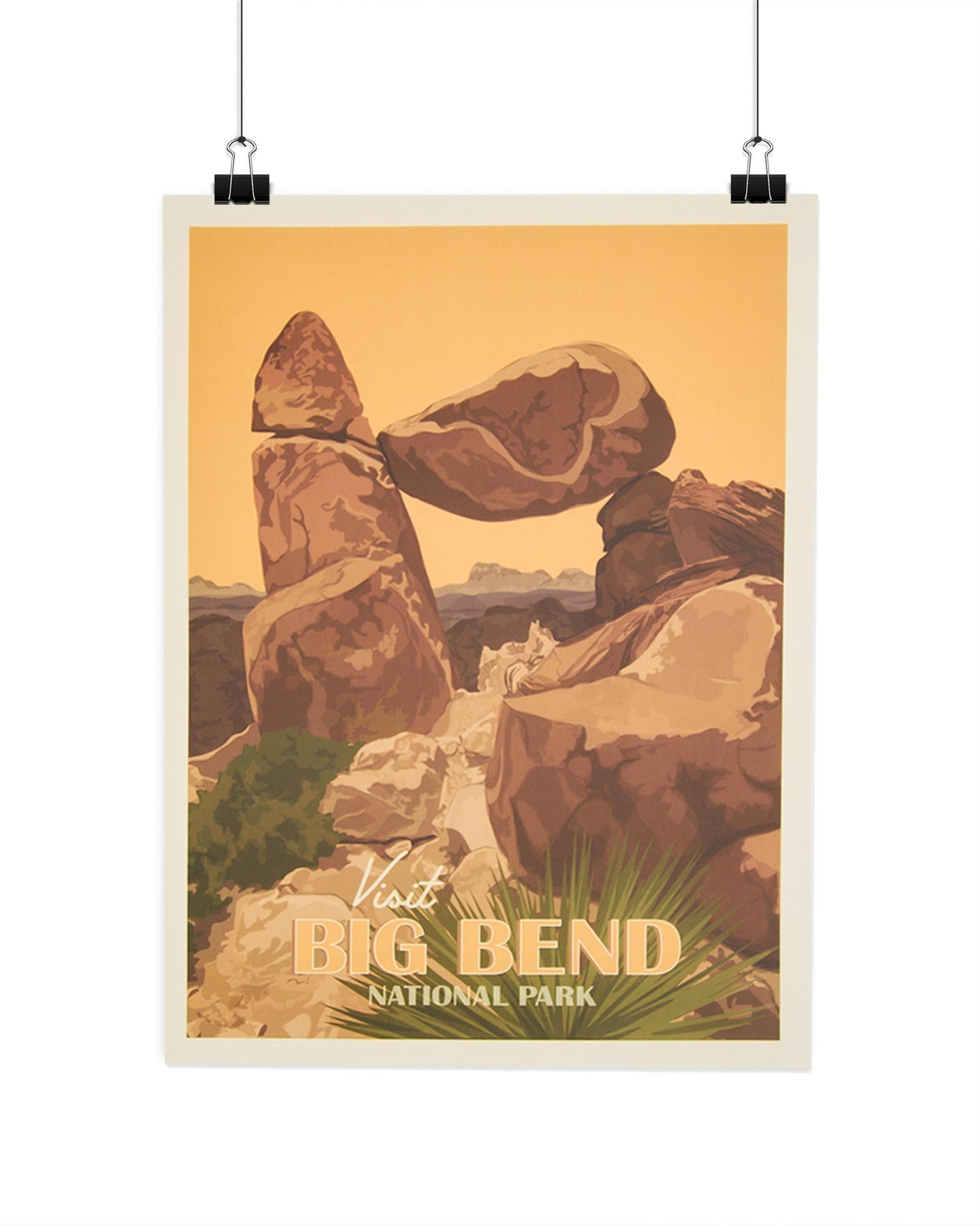 Visit Big Bend National Park Poster AXSPP040