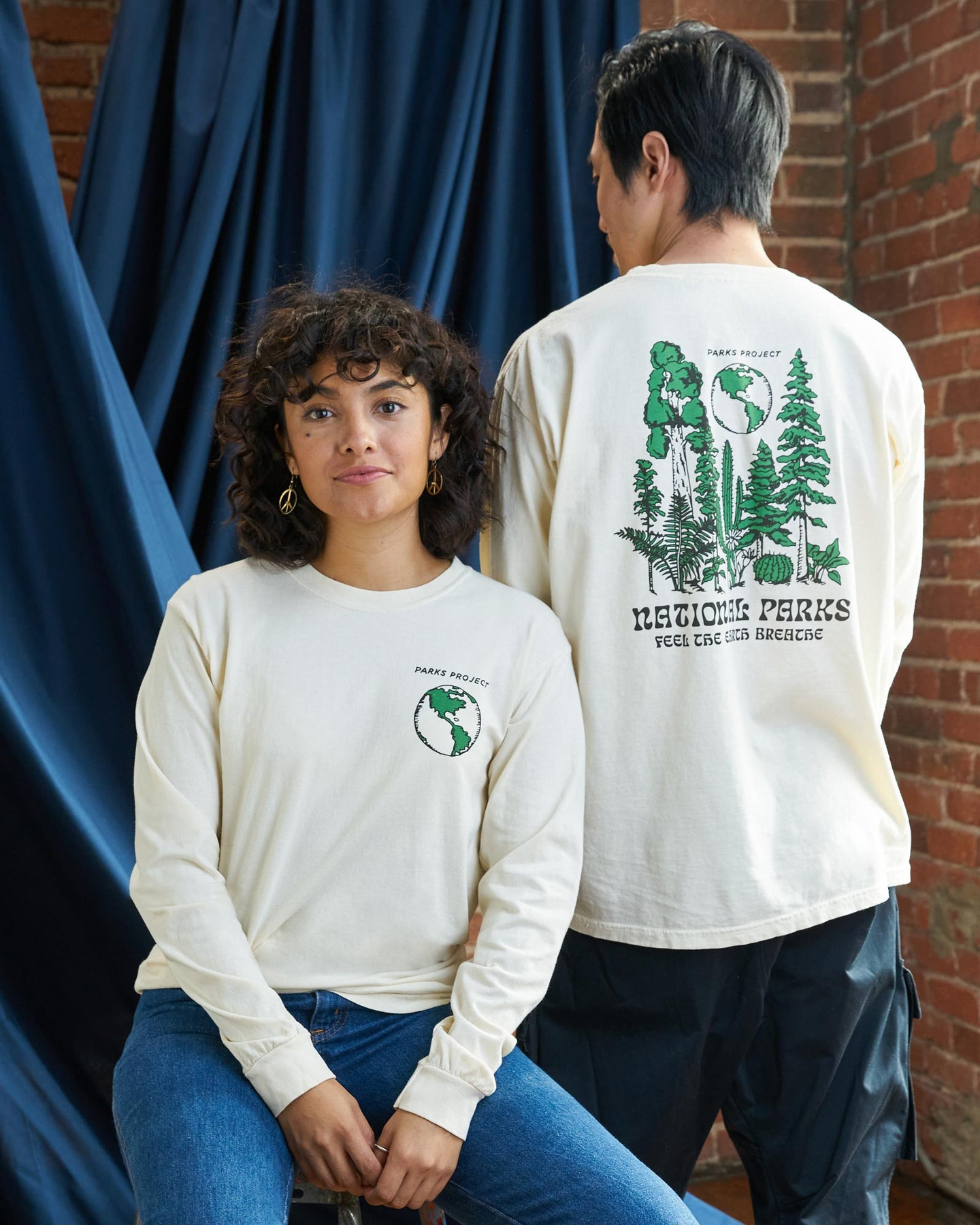 PARKS PROJECT Feel the Earth Breathe Long Sleeve Tee|PP002013