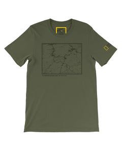 National Geographic X Parks Project Nat Geo Yellowstone Topographical Map Tee SP20-83