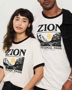 Zion Sunset River Ringer Tee ZN01007