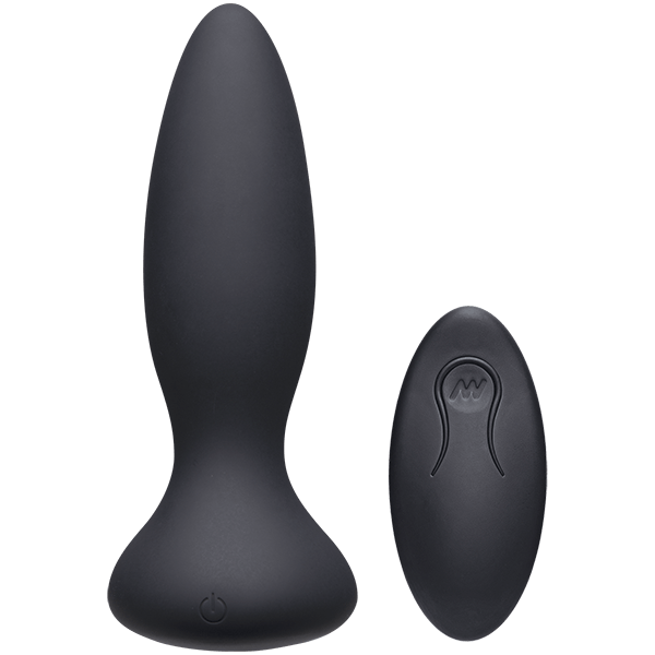 Doc Johnson A-Play Thrust Thumping Plug with Remote, 2 Sizes  Vibrating Anal Plug Doc Johnson Peepshow Toys