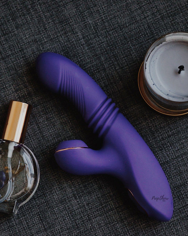 Blush Lush Iris Thrusting Vibrator with Clitoral Pulsation  Thrusters & Pulsators Blush Novelties Peepshow Toys