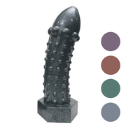 The Rivetor Large Metallic Silicone Dildo