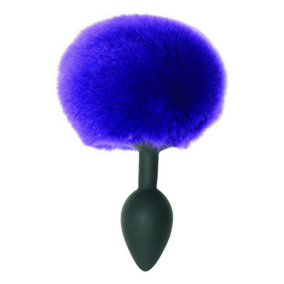 Midnight Silicone Bunny Tail Butt Plug by SportSheets