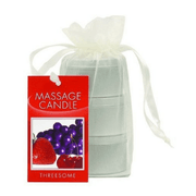 Massage Candle Threesome Gift Set - Cherry, Grape & Strawberry