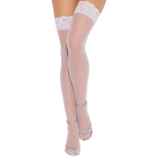 Sheer Lace Top Thigh High Stockings
