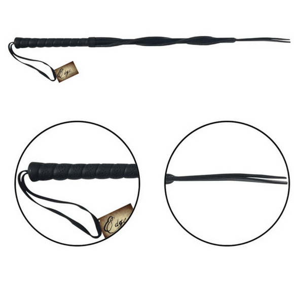 Edge Leather Twisted Whip by Sportsheets  Whip Sportsheets Peepshow Toys