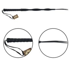 Edge Leather Twisted Whip by Sportsheets