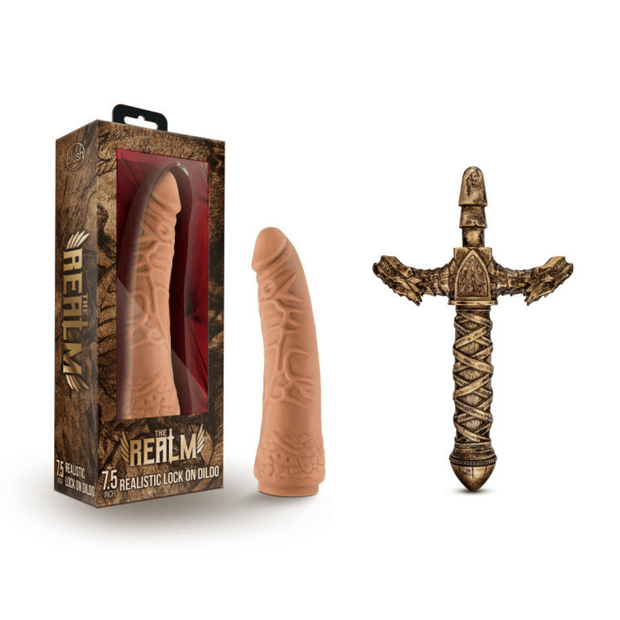 The Realm Realistic 7.5 Inch Dildo with Sword Handle Bundle