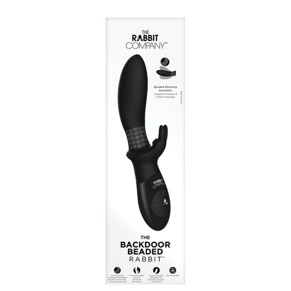 The Beaded Backdoor Rabbit Silicone Rechargeable Dual Vibrator
