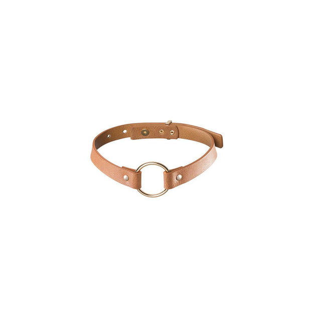 Bijoux Indiscrets Maze Single Ring Choker - Brown  BDSM Bijoux Peepshow Toys