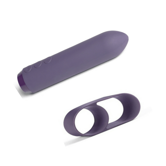 Je Joue Silicone Classic Bullet With Ergonomic Finger Sleeve  Bullet Vibrator Je Joue Peepshow Toys