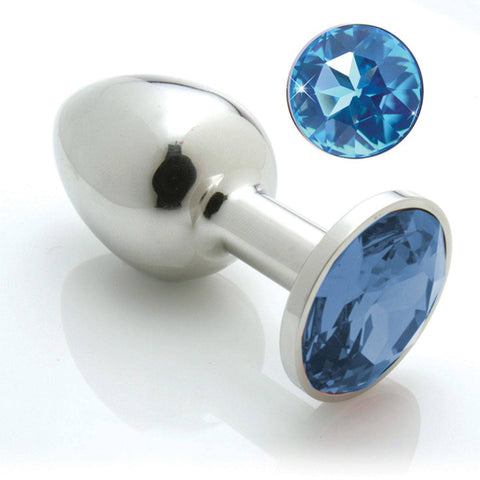 Pretty Plug Stainless Steel Booty Bling Plug (Multiple Colors & Sizes Available) - Hamilton Park Electronics