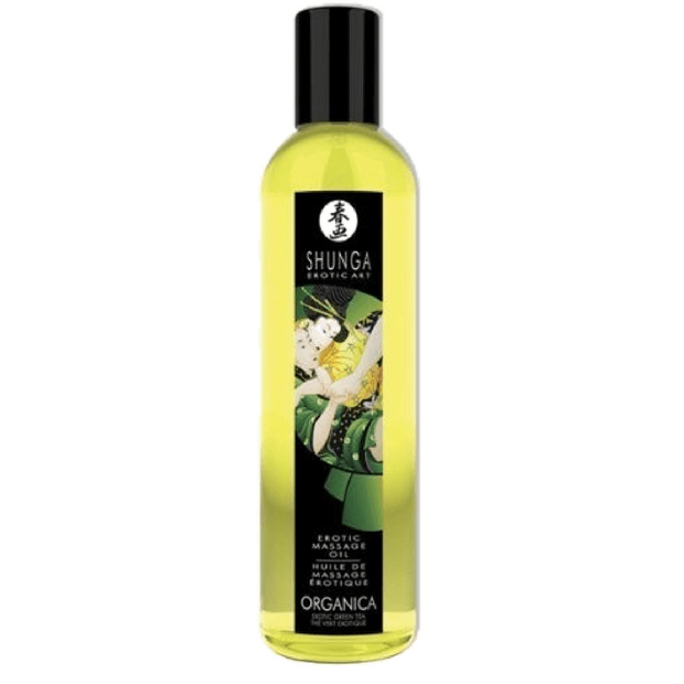 Organica Kissable Massage Oil - Exotic Green Tea  Massage Oil Shunga Peepshow Toys