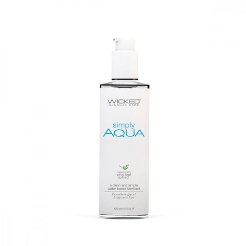 Wicked Simply Aqua Water-Based Lubricant - Hamilton Park Electronics