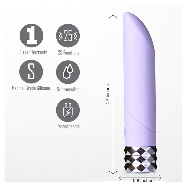 Maia Angel Crystal Gems Rechargeable 25-Speed Bullet Vibrator