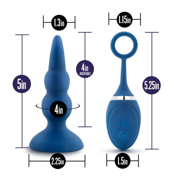 Blush Novelties Performance Plus Sonic Vibrating Butt Plug with Remote Control  Anal Plug Blush Novelties Peepshow Toys