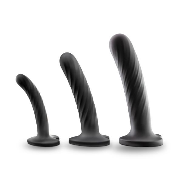 Blush Temptasia Twist Kit Silicone Suction Cup Dildos, Set of Three  Dildo Blush Novelties Peepshow Toys