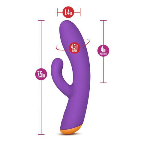Blush Novelties Aria Electrify Rechargeable Silicone Rabbit Vibrator  Rabbit Vibrator Blush Novelties Peepshow Toys