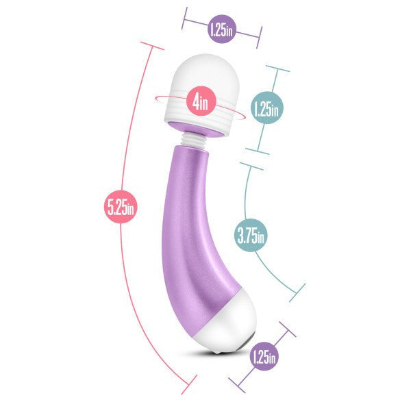 Noje W3 Mini Wand Style Vibrator by Blush Novelties