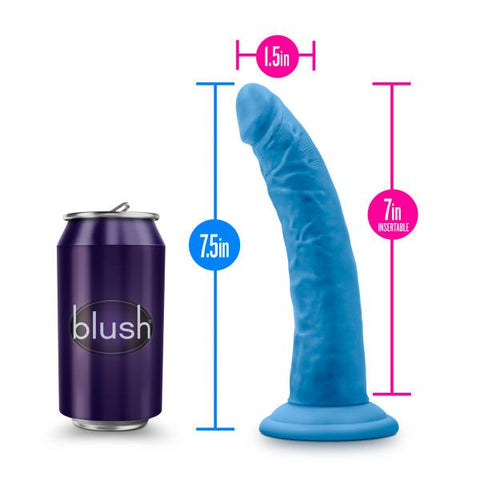 Blush Neo Elite 7.5 Inch Silicone Dual Density Suction Cup Dildo - Hamilton Park Electronics