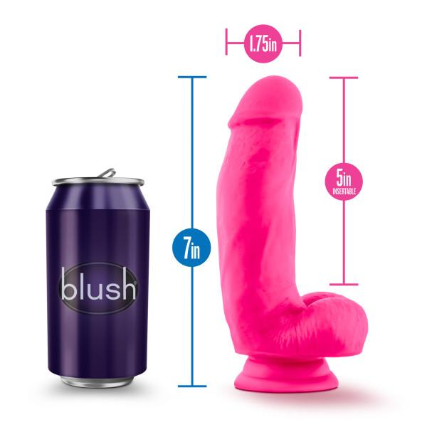 Blush Neo Elite 7 Inch Silicone Dual Density Suction Cup Dildo  Realistic Dildo Blush Novelties Peepshow Toys