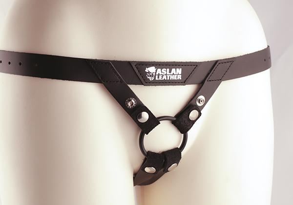 Aslan Commando Leather Strap-On Harness  Harness Aslan Leather Peepshow Toys