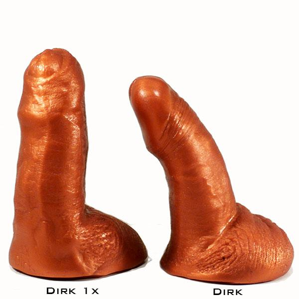 SquarePegToys® Dirk Uncut SuperSoft Silicone Dildo - 2 Styles  Dildo SquarePegToys® Peepshow Toys