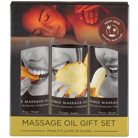 Earthly Body Tropical Massage Oil Gift Set  Massage Oil Earthly Body Peepshow Toys
