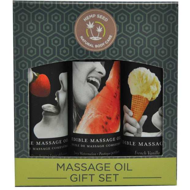 Earthly Body Edible Massage Oil Gift Set   Earthly Body Peepshow Toys