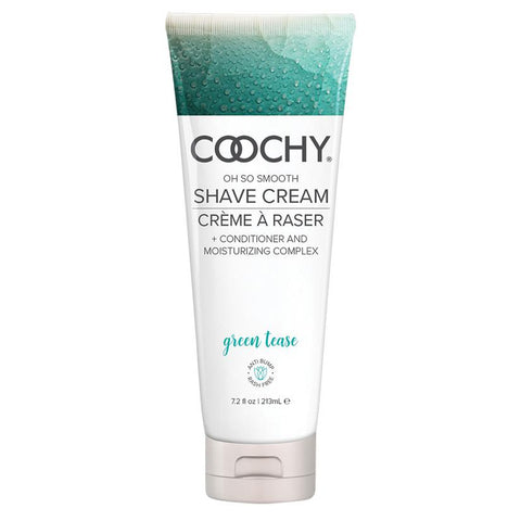 Coochy Oh Smooth Shave Cream - Green Tease  Shaving Cream Classic Erotica Peepshow Toys
