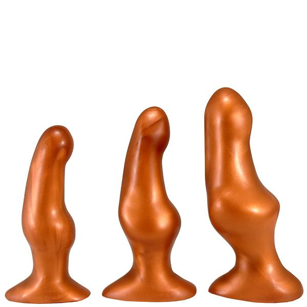 SquarePegToys® Happy Hour Plug SuperSoft Bronze Silicone