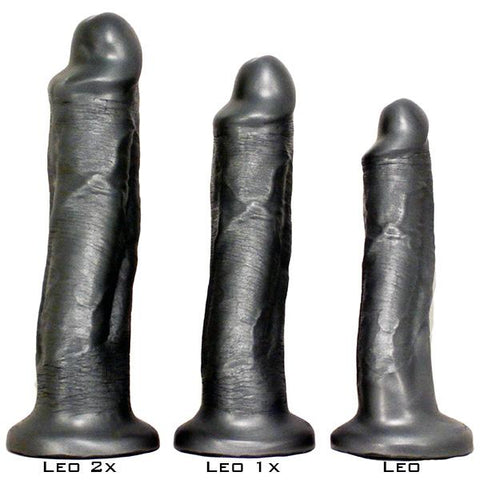 SquarePegToys® Leo Harness SuperSoft Bronze Silicone Dildo with Suction Cup  Dildo SquarePegToys® Peepshow Toys
