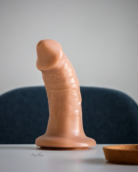 SquarePegToys® Steve Harness SuperSoft Silicone Dildo with Suction Cup - 3 Sizes - Hamilton Park Electronics