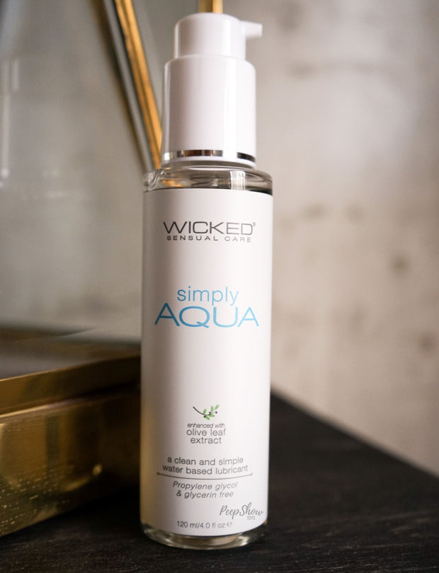 Wicked Simply Aqua Water-Based Lubricant  Lubricants Wicked Peepshow Toys