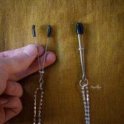 Midnight Bling Nipple Clamps by Sportsheets