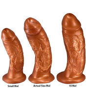 SquarePegToys® Mel Harness SuperSoft Bronze Silicone Dildo with Suction Cup