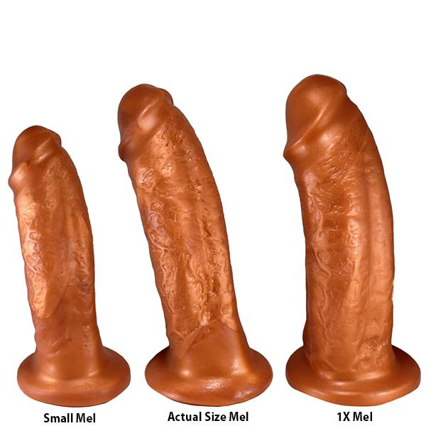 SquarePegToys® Mel Harness SuperSoft Bronze Silicone Dildo with Suction Cup  Realistic Dildo SquarePegToys® Peepshow Toys