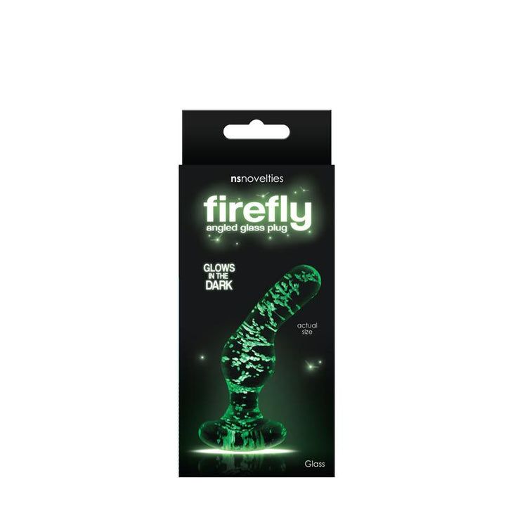 Firefly Glow in the Dark Glass Angled Butt Plug  Anal Plug NS Novelties Peepshow Toys