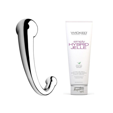 Njoy Pure Wand + Thick Lube Bundle   Njoy Peepshow Toys