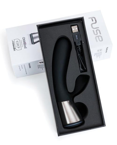 OhMiBod Fuse App-Controlled Rabbit Vibrator, Powered by Kiiroo