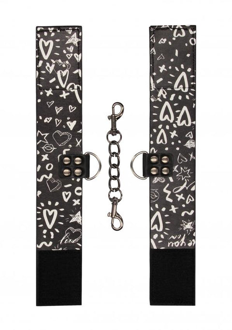 Printed Ankle Cuffs - Love Street Art Fashion by Shots - Hamilton Park Electronics