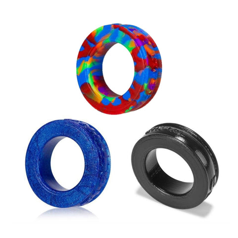 Oxballs Pig-Ring Bundle - Super Soft Silicone Cock Ring 3-Pack - Hamilton Park Electronics