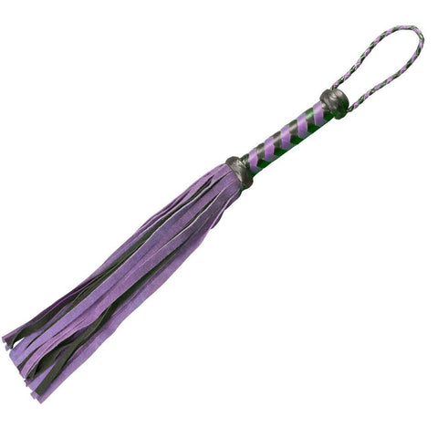 18-Inch Handmade Leather Flogger, 4 Colors  flogger Pleasure Peepshow Toys